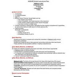 Assure Model Lesson Plan Template by Ccss Pearltrees