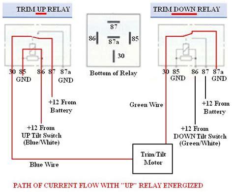 troubleshooting testing  bypassing spdt power trim tilt relays  boats
