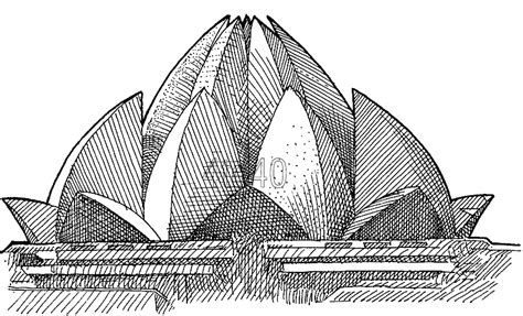 lines on lotus temple lotus temple clipart clipground