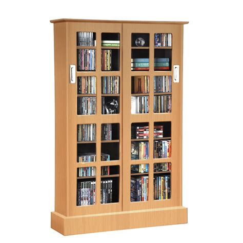 media storage windowpane media storage rack in maple