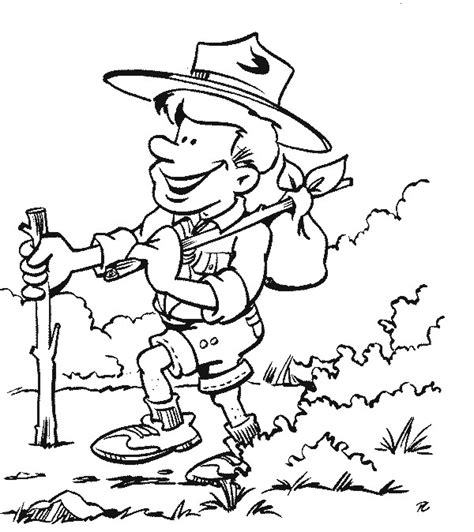 File Image Of Scout On Hike With Bindle Jpg Wikimedia Free Coloring Pages For Scouts Free
