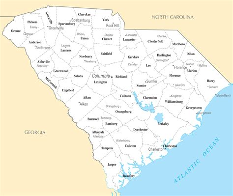 map of carolina townships south carolina map with cities bnhspine