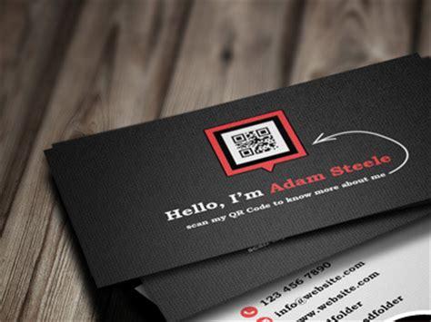 qr code business card template psd 55 best psd business card templates designbump