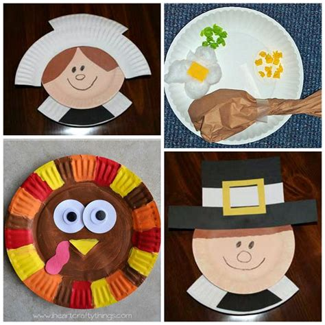 Pilgrim Paper Plate Craft - thanksgiving paper plate crafts for crafts