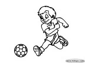 boy soccer player 10 coloring page