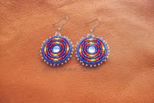 Native american beaded earrings summer skies by cheyennenoon