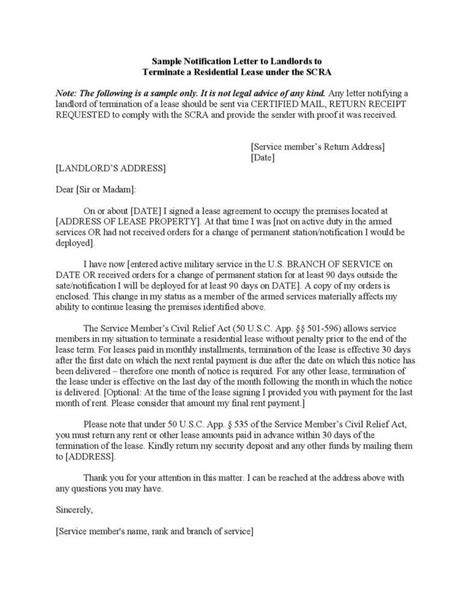 lease termination letter landlord to tenant scanbite co