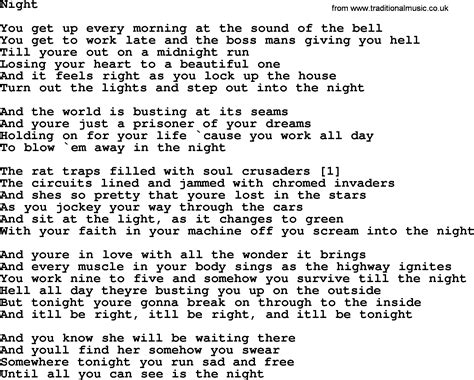 lyrics bruce springsteen bruce springsteen song lyrics