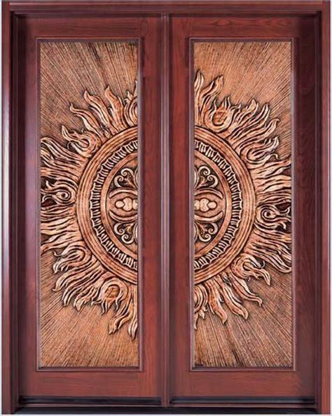 Cooper Door by China Solid Wood Door With Copper Coating 8208