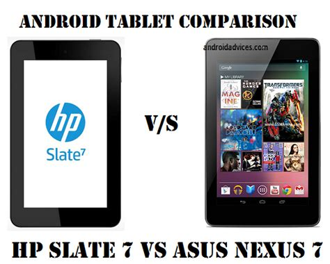 Hp Nexus One hp slate 7 vs asus nexus 7 android tablets
