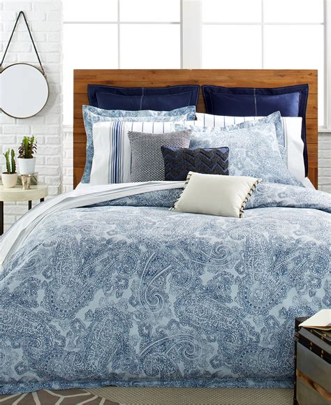 bedding at macy s tommy hilfiger canyon paisley comforter and duvet cover