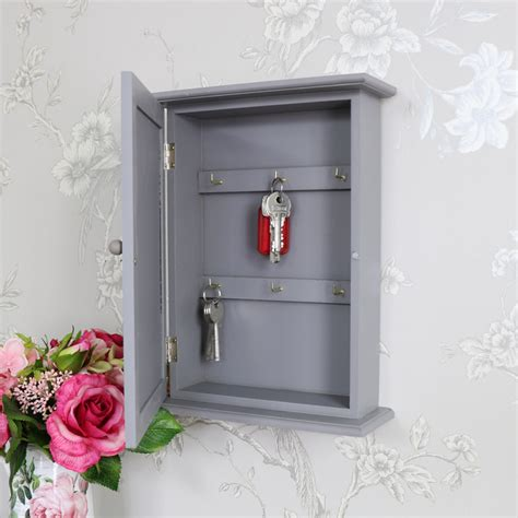 grey wall mounted wooden key cabinet melody maison 174