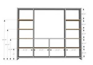 wall unit plans ana white sliding door cabinet for tv diy projects