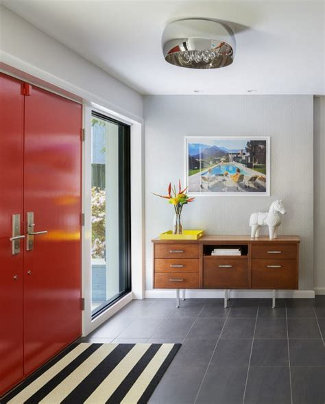 captivating mid century modern entrance designs