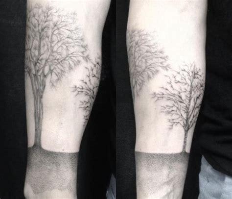 baum tattoo seine bedeutung und  tolle design ideen