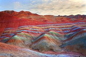 colorful mountains rainbow mountains in china s danxia landform geological park