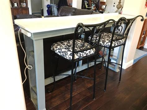 Great Bar Table Behind Couch Possible In Basement Superior