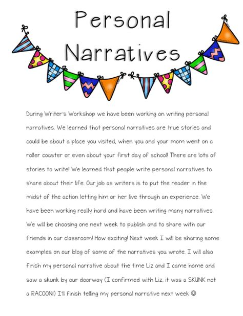 autobiographical essay sles narrative exles third grade graphic organizers for