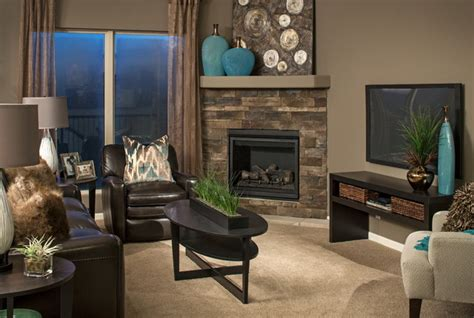 model homes contemporary living room omaha