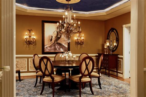 Traditional Dining Room Design by Feminine Dining Room 4