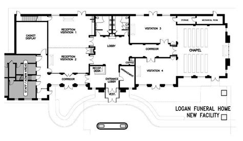 funeral home floor plan funeral home floor plans new barden mercial floor plans