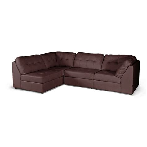 baxton studio sectional baxton studio warren brown leather modern sectional sofa