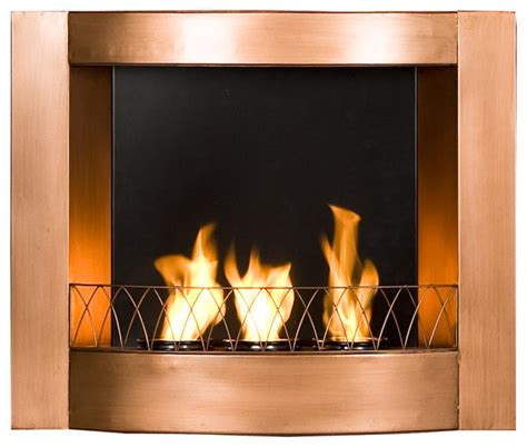 Wall Mounted Indoor Fireplace by Hallston Wall Mount Fireplace Copper Modern Indoor Fireplaces