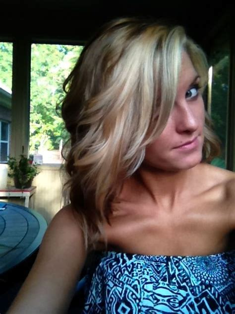 Blonde In The Front And Brown And Peekaboo Highlights In Pinterest | blonde in the front and brown and peekaboo highlights in