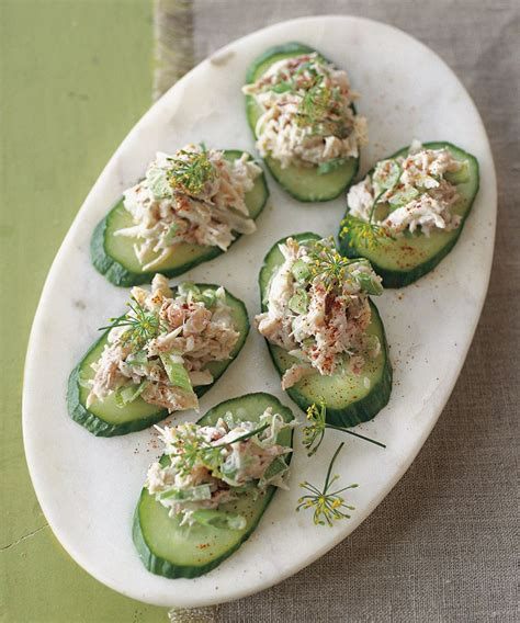 healthy canapes recipes crab and cucumber canap 233 s a healthy appetizer for