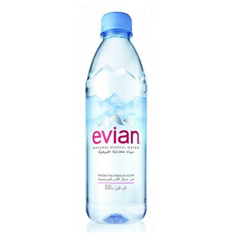 EVIAN Natural Mineral Water, France, 500ml PET bottles