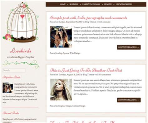 Templates Blogger Gratuit   lovebirds blogger template newbloggerthemes com