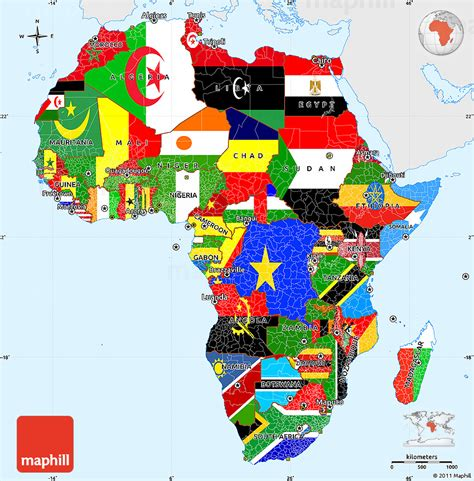 colors of africa flag simple map of africa single color outside