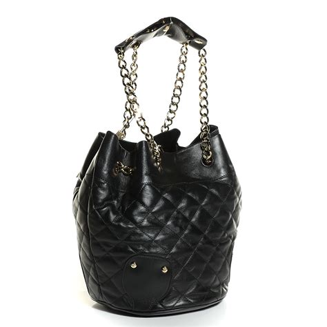 Burberry Quilted Bag by Burberry Calfskin Quilted Shoulder Bag Black 105936