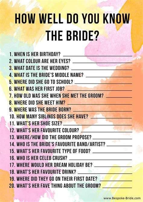 do you know how easy it is to start your first herb garden free printable how well do you know the bride hen party