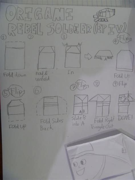 How To Make A Paper Soldier - origami rebel soldiers origami yoda