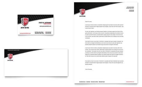 auto detailing business card template free auto detailing business card letterhead template design