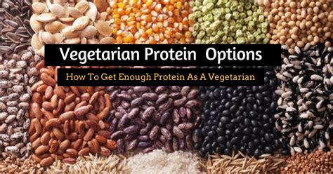 protein options vegetarian diet protein options how to get enough protein