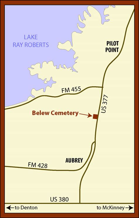 map of pilot point texas location belew cemetery
