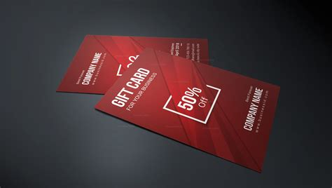 Corporate Gift Card Template by Stylish Corporate Gift Card Template 001253 Template Catalog