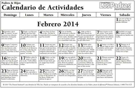 calendario de enero de 2013 actividades en familia calendario de consejos para padres febrero february