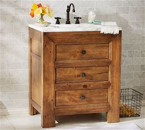 Stella Single Sink Console Weathered Pine Finish Weathered Bathroom Vanity
