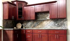 cherry shaker kitchen cabinets fgy stone and cabinet cherry shaker