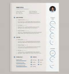 design resume templates free 20 creative free resume cv templates to