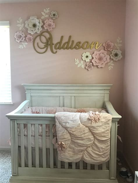 rose themed baby room baby girl nursery with pink and gold theme baby girl
