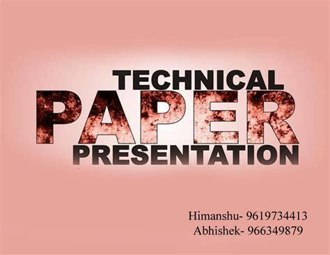 How To Make A Technical Paper Presentation - paper presentation students organisation of chemical