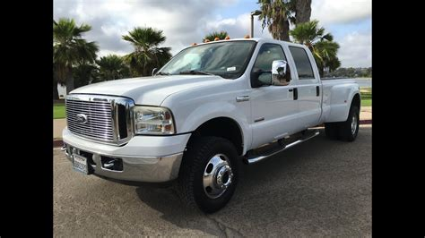 ford  dually lariat long bed   diesel crew
