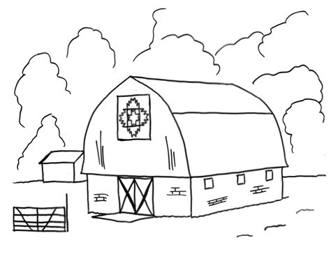Barn Coloring Pages Coloringsuite Com Barn Coloring Pages Free