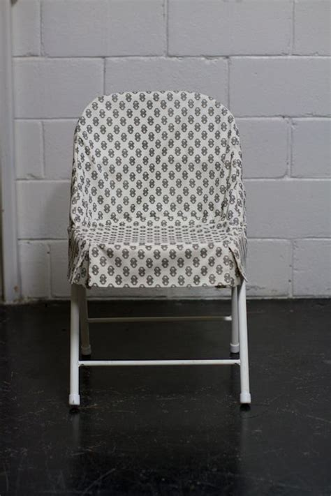 folding chair slipcover upholstery basics simple slipcover for folding chairs