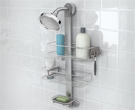 Shower Racks by Simplehuman Adjustable Stainless Steel Shower Caddy Organizer