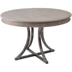 Circular Dining Table And Chairs Buy Distressed Wood And Metal Circular Dining Table From Fusion Living